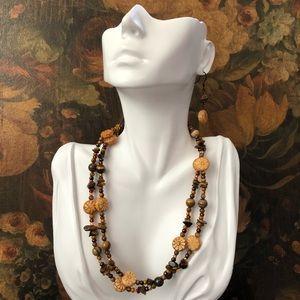 Vintage 3 Piece Beaded Natural Gemstone Set